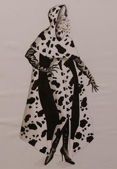 Anthony Powell - Esquisses et Croquis - Costumier - 101 Dalmatiens - 1996 - Glenn Close - Cruella de Vil