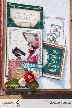 Arlene's December Daily Mixed Media Album using A Christmas Carol #graphic45
