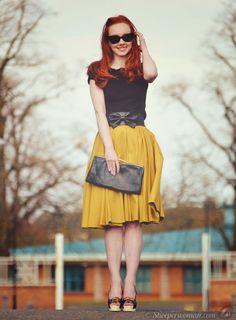 Mustard Skirt and belt