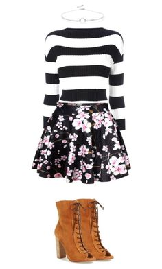 Untitled #23 by trine-hardt-nielsen on Polyvore featuring polyvore, мода, style, Boutique Moschino, WithChic, Kristin Cavallari, Noir Jewelry, fashion and clothing