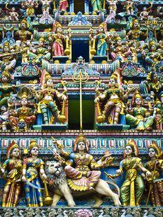 Hindu temple in 'little India', Singapore