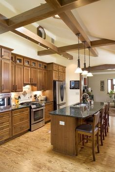 Kitchen Photos Ceiling Beam Design, Pictures, Remodel, Decor and Ideas - page 4
