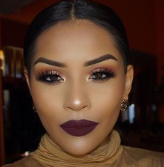 Best Dark Make-Up Looks for Black Women's Skin - Trends Ideas 2018 - US Makeup Trends Makeup On Fleek, Flawless Makeup, Glam Makeup, Love Makeup, Skin Makeup, Makeup Inspo, Makeup Inspiration, Makeup Tips, Makeup Ideas