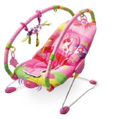 bfda12c1f Tiny Love Bouncer Gymini Princess Pink Vibrate Recline Seat Soothes Bounce  New