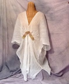 Greek Goddess Caftan Beach Spa Cover Up White One by SavoyFaire, $60.00