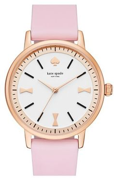 Kate Spade New York 'crosby' Silicone Strap Watch, 34mm