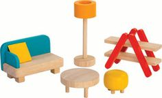 We carry handcrafted toys and imaginative decor that encourages children to explore and develop through creative play. We support a healthy and imaginative childhood Lounge Furniture, Doll Furniture, Paper Furniture, Kids Doll House, Yellow Throw Pillows, Sofa Throw, Plan Toys, Colourful Living Room, Dollhouse Toys