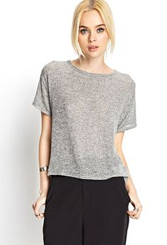 Boxy Marled Top   FOREVER21 - 2000059110