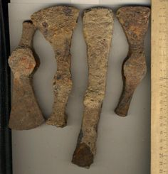 Sarmatian iron axe heads.