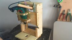 Homemade Drill Press - Lathe - Disc sander, 3 in 1 - El yapımı torna, Z...