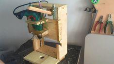 Homemade Drill Press - Lathe - Disc sander, 3 in 1 - El yapımı torna, Z...