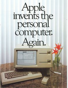 Apple Computer releases the Macintosh personal computer. Retro Ads, Vintage Advertisements, Vintage Ads, Vintage Posters, Phrase Choc, Apple Tv, Apple Ipad, Alter Computer, 8 Bits