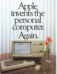 Apple Computer releases the Macintosh personal computer. Retro Ads, Vintage Advertisements, Vintage Ads, Vintage Posters, Phrase Choc, Alter Computer, Apple Tv, Apple Ipad, 8 Bits