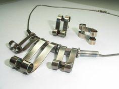 Scroll Necklace & Earring Set  Hallmarked  by CallumKiltsJewellery