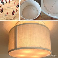 Diy ceiling fan makeover drum shade tutorial shows how to attach diy drum shade tutorialazing idea for transforming a ceiling fan to a aloadofball Choice Image