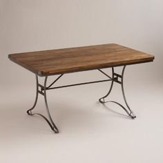 One of my favorite discoveries at WorldMarket.com: Jackson Rectangular Table with Metal Base