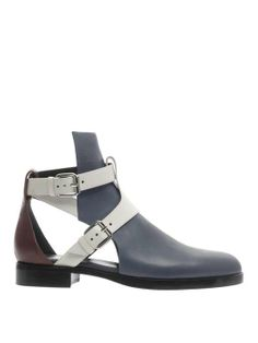 Pierre Hardy   Tri-colour slashed boots #pierrehardy #cutout #boots