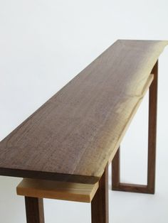 Live Edge Sofa Console Table- narrow sofa table, wood console, short side table- Live Edge Furniture- Handmade Modern Tables