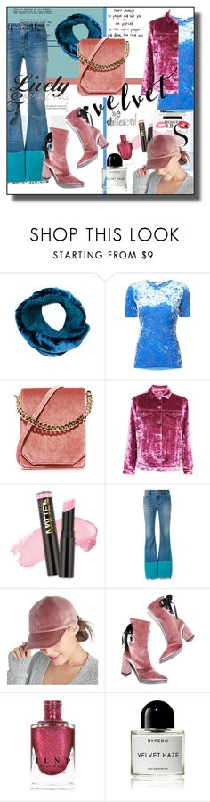 """""""Crushed Pink & Blue"""" by kelly-floramoon-legg on Polyvore featuring MAC Cosmetics, Issey Miyake, TIBI, Cafuné, Topshop, L.A. Girl, Roberto Cavalli, Sole Society, Robert Clergerie and Byredo"""