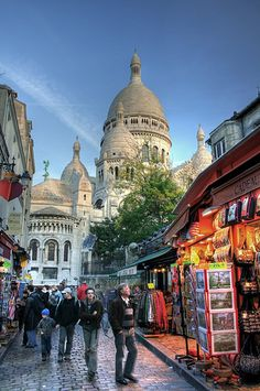 Montmartre , Paris was just a short walk from our hotel when we visited in June 2014