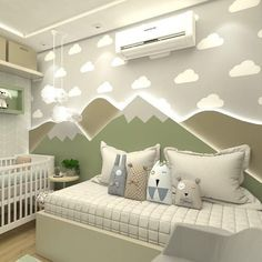 Baby Room Themes, Baby Boy Room Decor, Baby Bedroom, Baby Boy Rooms, Little Girl Rooms, Kids Bedroom Designs, Bunk Bed Designs, Baby Room Design, Cool Kids Rooms