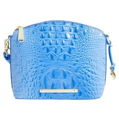 Brahmin 'Mini Duxbury' Crossbody Bag ($195) ❤ liked on Polyvore featuring bags, handbags, shoulder bags, regatta, mini crossbody, shoulder handbags, blue leather handbag, purse crossbody and leather handbags