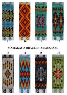 native loom beaded bracelets: