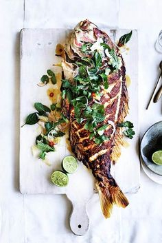 Barbecued lemongrass snapper with pomelo and herb salad recipe food processor – Dinner Food Fish Dishes, Seafood Dishes, Fish And Seafood, Seafood Recipes, Cooking Recipes, Seafood Bbq, Dinner Recipes, Snapper Recipes, Barramundi Recipes
