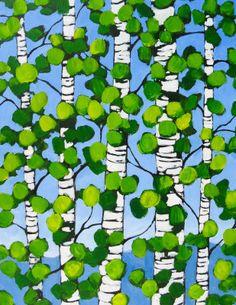 Birches in Spring - Patty Baker