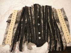 A corset for Dita von Teese in progress. Depending on its complexity, a corset can take between one to six months to make.