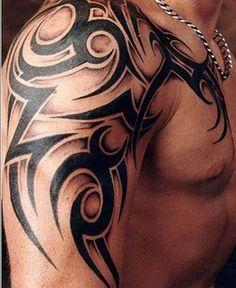 17 Tribal Arm Sleeve Tattoo