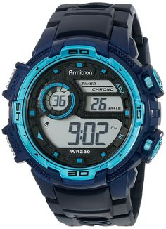 Armitron Sport Men's 40/8347NVY Digital Chronograph Navy Blue Resin Strap Watch