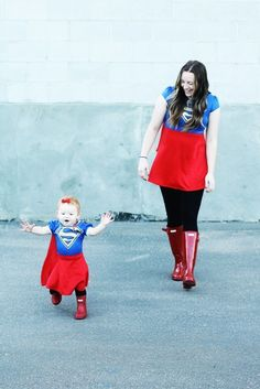 Supergirl costume | halloween costume | mommy and me costume | halloween | Halloween family costume | costume |