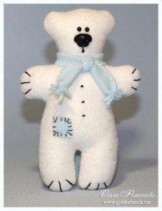 Molde para hacer un oso polar de peluche (1)
