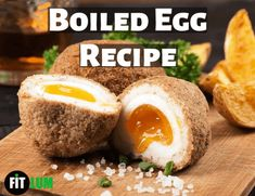 Eating boiled eggs at breakfast or at lunchtime is the best way to get essential nutrients and provide you energy the whole day to perform regular tasks. Hard-boiled eggs are the best fitness friends for many bodybuilders and athletes. Traditional English Food, Fried Chips, Salsa Bechamel, Scotch Eggs, Tasty, Yummy Food, Sunday Roast, Chapati, Fish And Chips