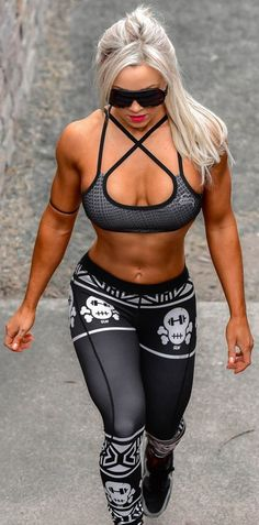 Strong Lift Wear Aztec Compression Pants-Skull www.strongliftwea...