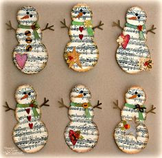 sheet music snowmen... I am in L-O-V-E!