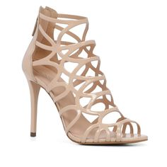 Eryde sandals by ALDO. A striking caged sandal -set on a stiletto heel features a zip-back entry -turns any occasion int. Nude Heels, Stiletto Heels, High Heels, Caged Heels, Caged Sandals, Women's Sandals, Aldo Shoes, Shoes Heels, Shoes