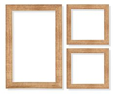 wooden frame on the white background