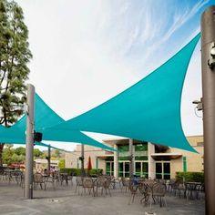 Freeport Park Solon 10' Triangle Shade Sail | Wayfair Triangle Shade Sail, Sun Sail Shade, Triangle Square, Sail Canopies, Sun Canopy, Shade Canopy, Pool Shade, Pergola Shade, Outdoor Pergola