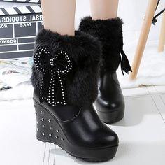 huge selection of 0a1a0 85112 Botas, Botas De Cuña, Botas Zapatos, Botas Altas Dobladas, Zapatos Rojos,