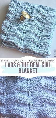 Lars The Real Girl Blanket Free Knitting Pattern Knittedblanket ; lars the real girl decke free knitting pattern gestrickte decke ; lars the real girl blanket - couverture tricotée sans motif ; lars the real girl blanket manta de punto sin patrón Baby Knitting Patterns, Free Baby Blanket Patterns, Free Knitting, Crochet Patterns, Knitted Afghans Patterns Free, Beginner Knitting Blanket, Crochet Blocks, Crochet Gratis, Free Crochet