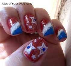 Patriotic Nails{Move Your Acetone}