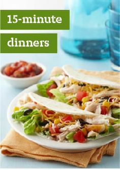 15-Minute Dinners – Get dinner on the table in 15 minutes or less with these 10 quick and easy recipes.