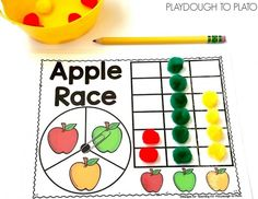 Apple Race Math Game - Playdough To Plato