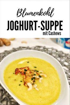 Leichte Blumenkohl-Joghurt-Suppe - so lecker!