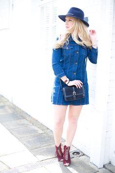 Zara Denim Dress - fashion blog