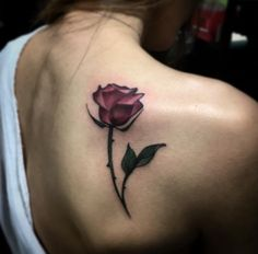 Surreal Rose Tattoo by Justin Hobson