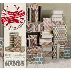 IMAX 3 Piece Confetti Book Box Set
