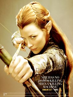 """"""" Evangeline Lilly as """"Tauriel"""" in The Hobbit: The Desolation of Smaug """" Tauriel, Legolas, Aragorn, Lord Of Rings, Archery Girl, Elfa, J. R. R. Tolkien, Wood Elf, Mary Sue"""
